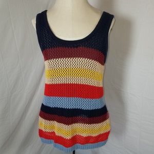 Cato Crocheted Tank Top With Lining Size Small